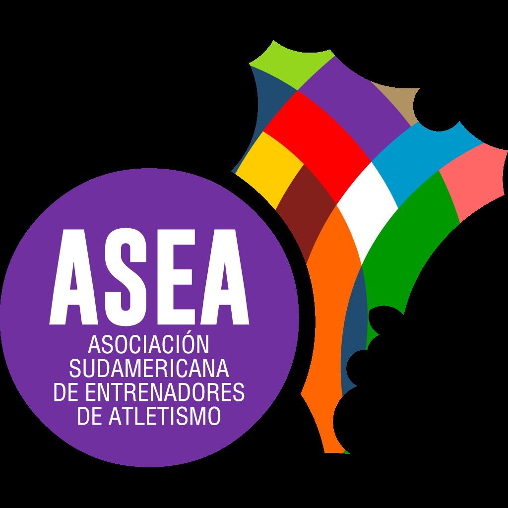 logo oficial asea 2021 asociación sudamericana de atletismo